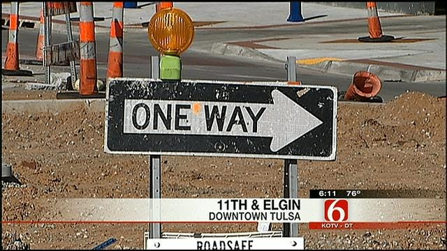 Tulsa's First Traffic Roundabout Simplifies Downtown Intersection