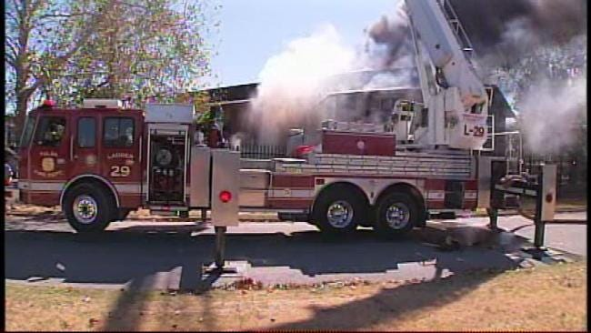 WEB EXTRA: Firefighters Battle Fire At Fairmont Terrace Apartments In South Tulsa