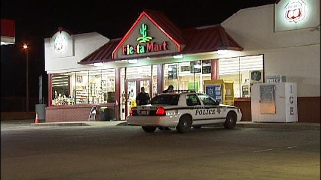 WEB EXTRA: Video From Scene Of Fiesta Mart Armed Robbery