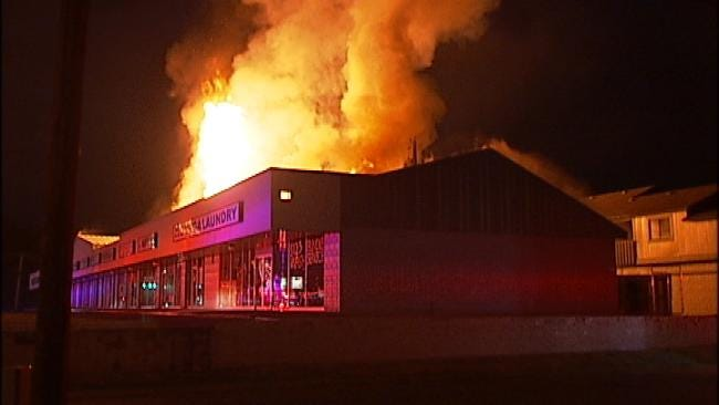 WEB EXTRA: Video From Scene Of Tulsa Strip Mall At 61st and Lewis