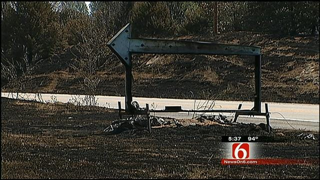 Some Creek County Residents Return To Ashes