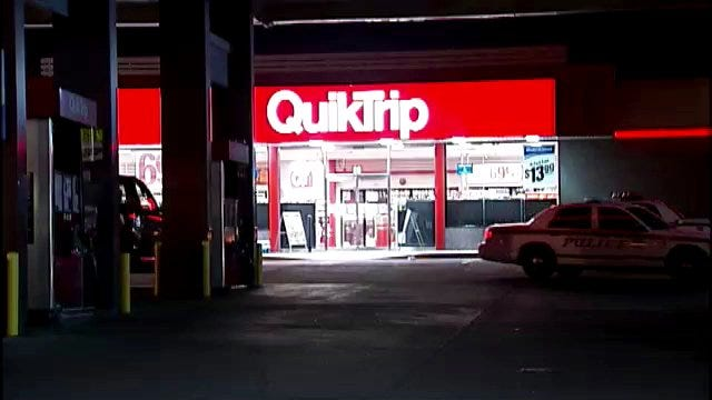 WEB EXTRA: Video From Scene At QuikTrip Armed Robbery At Admiral And Harvard