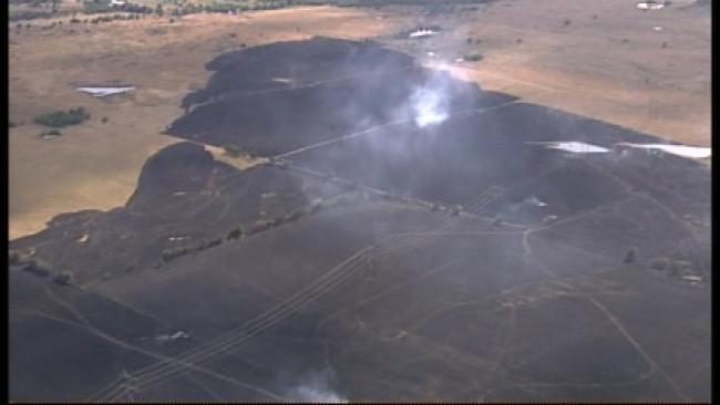 WEB EXTRA: Sky News 6 Flies Over Rogers County Grass Fire