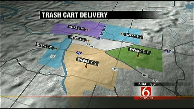 New Trash Carts Rolling Out In West Tulsa Debut