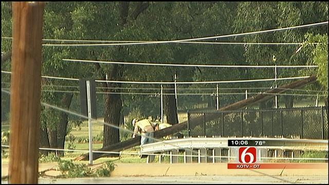 Microburst Leaves Trees, Power Lines Down All Over South Tulsa