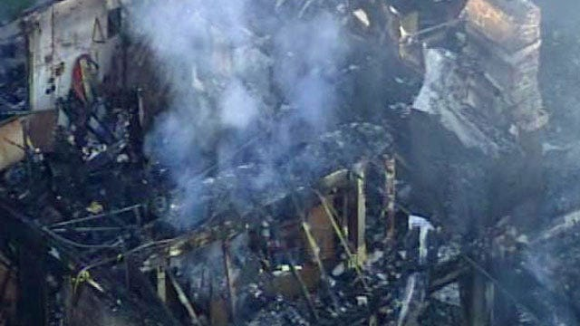 WEB EXTRA: Video From Sky News6 Over Jenks Home Fire
