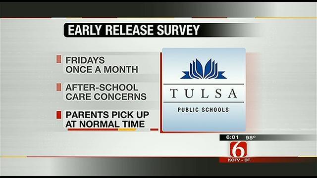 Survey Shows Tulsa Public Schools Parents, Teachers Favor 'Early Release'