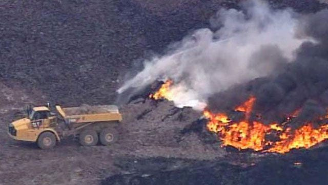 WEB EXTRA: Video From SkyNews6 Of North Tulsa Tire Fire