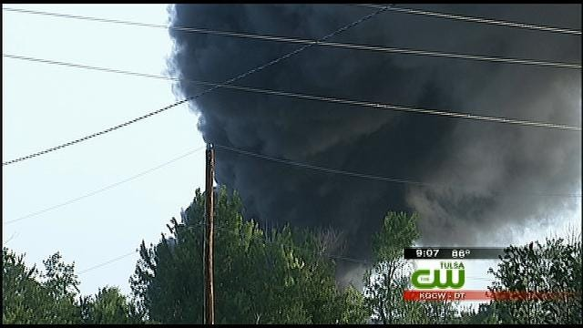 Lightning Strikes Landfill, Ignites Fire In North Tulsa