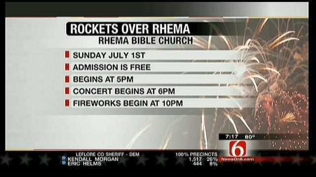 Rockets Over Rhema This Sunday