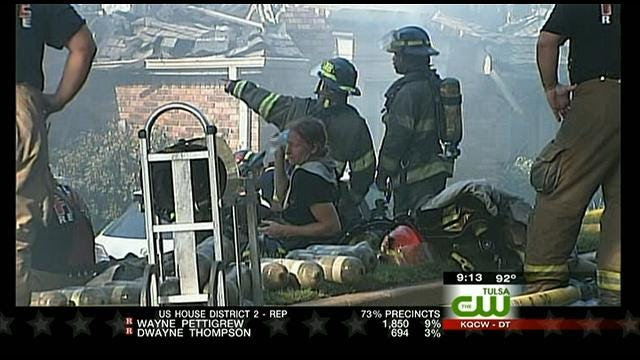 Firefighters Respond To South Tulsa House Fire