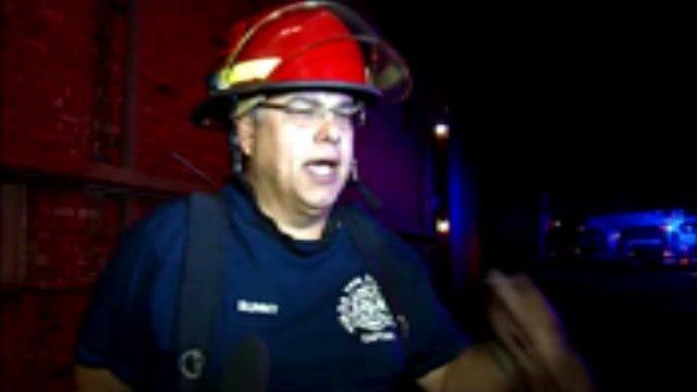 WEB EXTRA: Tulsa Fire Captain Walter Sunny Talks About Apartment Fire