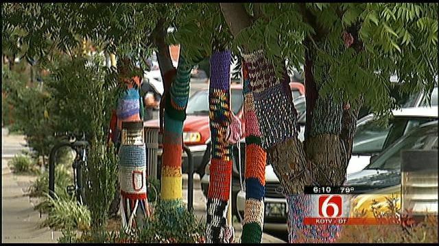 Yarn-Bombing Takes Over Bartlesville