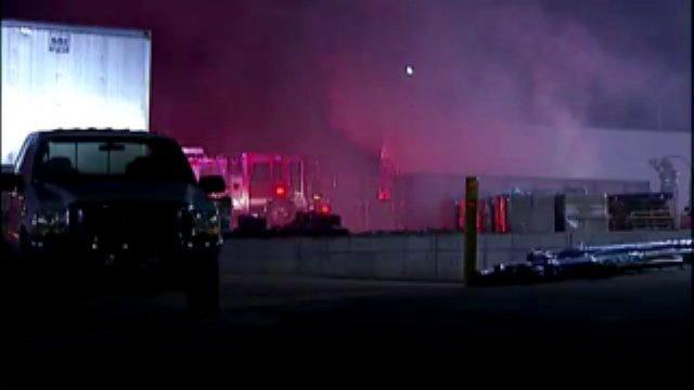 WEB EXTRA: Video Of Tulsa Trash Dumpster Fire