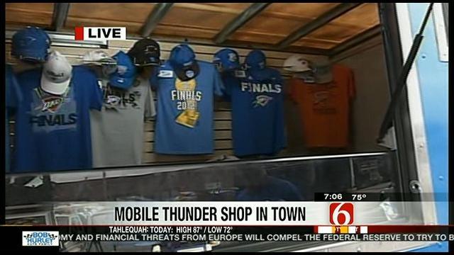 Oklahoma City Thunder Truck Visits Tulsa and Bixby Tuesday