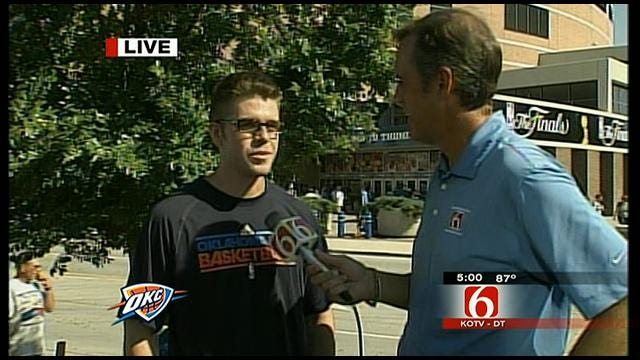 Tulsa Thunder Fan Travels To OKC For Game One