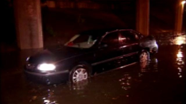 WEB EXTRA: Video Of Street Flooding And Damage In Tulsa Early Monday