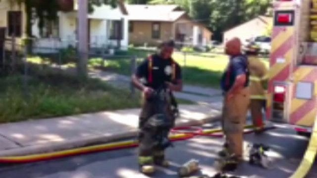WEB EXTRA: Video From Scene Of West Tulsa House Fire