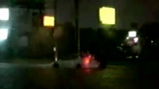 WEB EXTRA: Video Of Flooded Roadway at 43rd and Sheridan