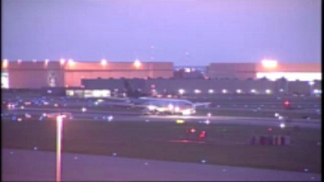WEB EXTRA: Video Of UPS Aircraft Landing At Tulsa International Airport