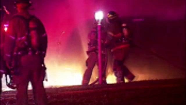WEB EXTRA: Video From Scene Of West Marshall Vehicle Fire In West Tulsa