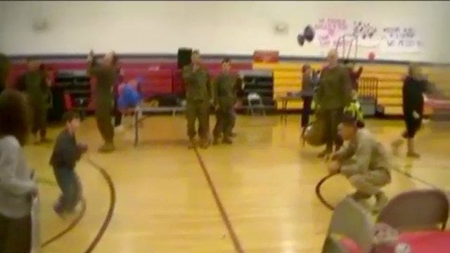 Must See Video: Son With Cerebral Palsy Welcomes Marine Dad Home