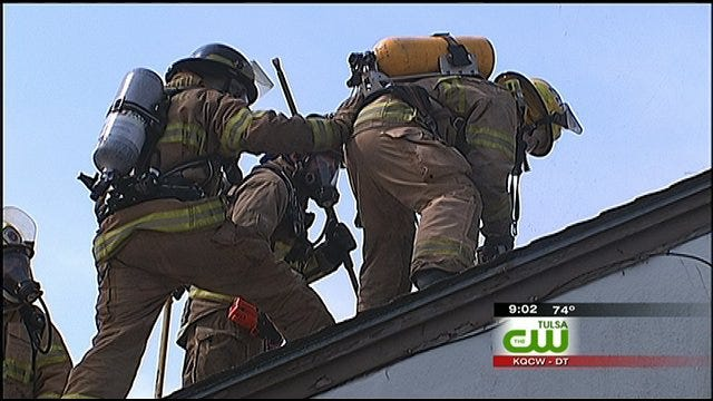 Green Country Family Donates Dilapidated Home To Firefighter Training