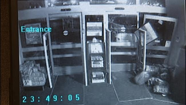WEB EXTRA: Surveillance Video Of Burglars Using Pickup Truck To Break Into Walgreens And Taking Cigarettes