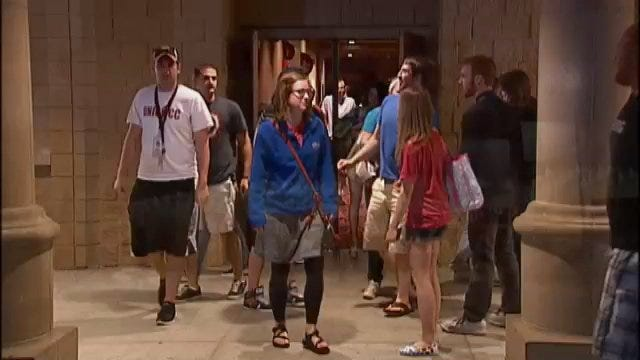 WEB EXTRA: Avenger Movie Fans Leaving The Movie Premiere In Tulsa