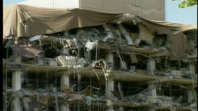 WEB EXTRA: Video From The Scene Of The OKC Bombing 17 Years Ago