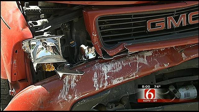 Tulsa House Burglar Rams Victim's Car