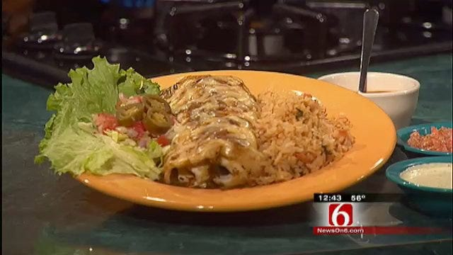 Chuy's Steak Burrito And Hatch Green Chile Sauce