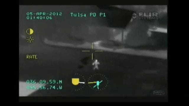 WEB EXTRA: Police Chopper Tracks Down Man Suspected Of Breaking Into Tulsa Home