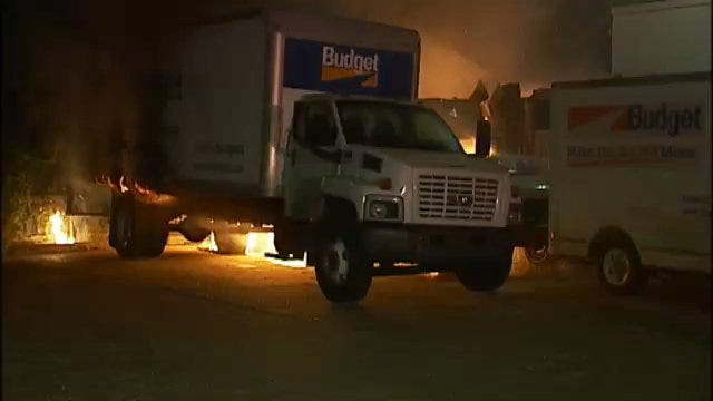 WEB EXTRA: Video From Budget Truck Fires