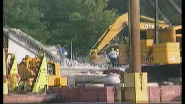 Construction Begins At I-40 Bridge Collapse