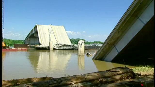 Crews Work To Salvage What They Can From I-40 Bridge Collapse
