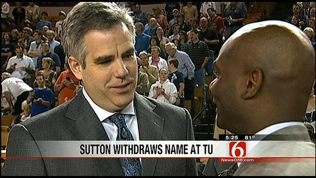 Sutton Withdraws Name At TU