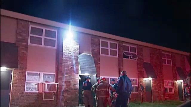 WEB EXTRA: Video From Scene Of Small Fire At Tulsa's Mohawk Manor