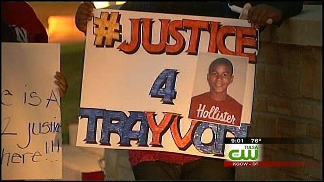 TU Students Hold Vigil For Trayvon Martin In Tulsa