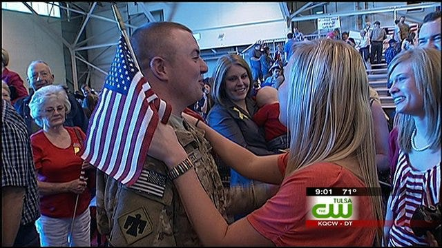 45th Infantry Soldiers Return To Oklahoma