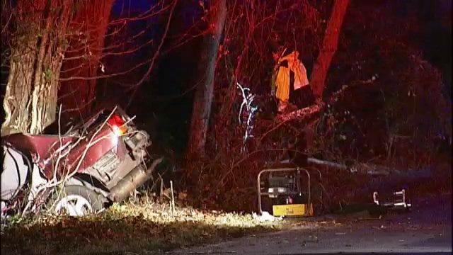 WEB EXTRA: Man Killed In Single-Car Tulsa Crash