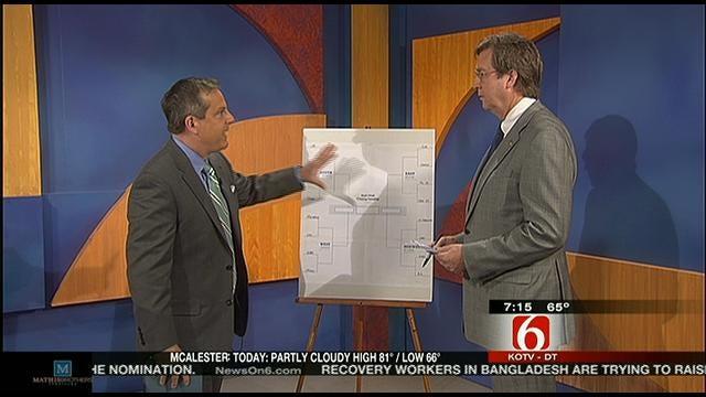 Tulsa Mayor Dewey Bartlett Shows Us His NCAA Brackets