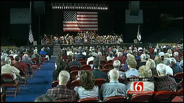Mother, Marine Son Share Moment At Tulsa Concert To Honor Service Members