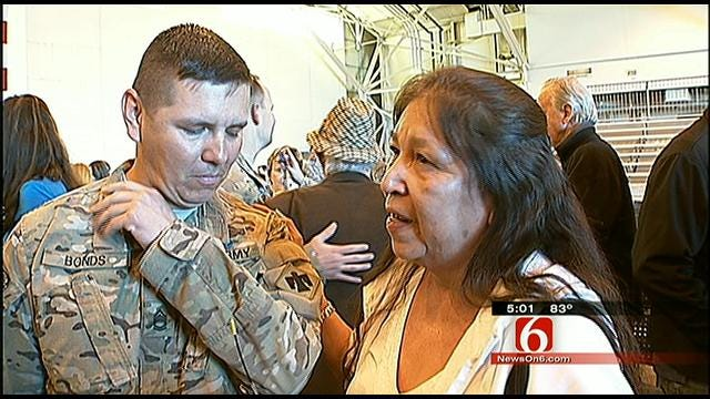 Oklahoma Soldiers Enjoy Happy Homecoming