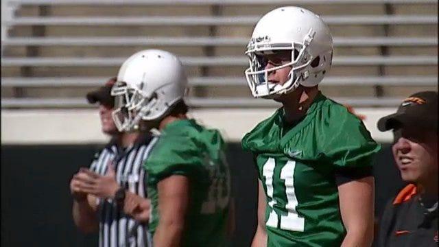 OSU Quarterbacks Go Through Spring Drills