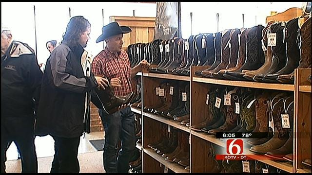 Musician Leaves Tulsa Without Accordion, But With New Boots