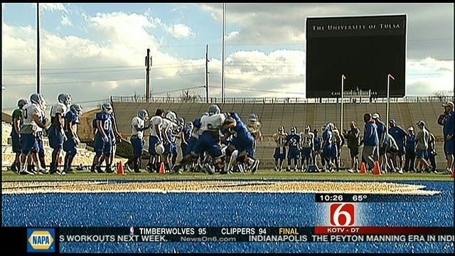 TU Football Opens Spring Practice