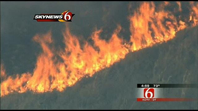Brush Fires Fill Tulsa-Area Skies With Smoke