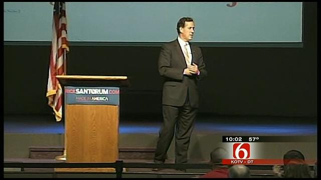 Presidential Candidate Rick Santorum Swings Through Oklahoma
