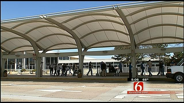 Transport Workers Union Holds Protest At Tulsa International Airport